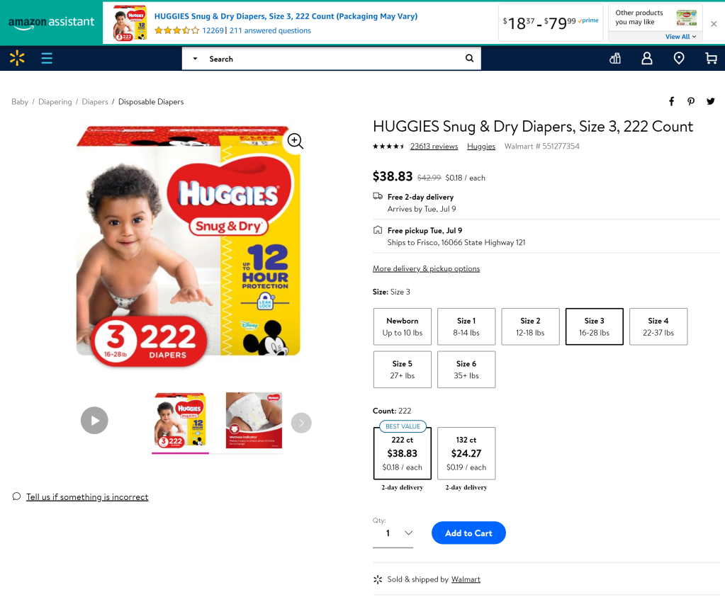 Huggies Snug & Dry PDP Samples